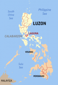 Map of Laguna Province in the Philippines