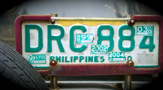 Philippines License Plate, Hamtic, Antique. July 2009.